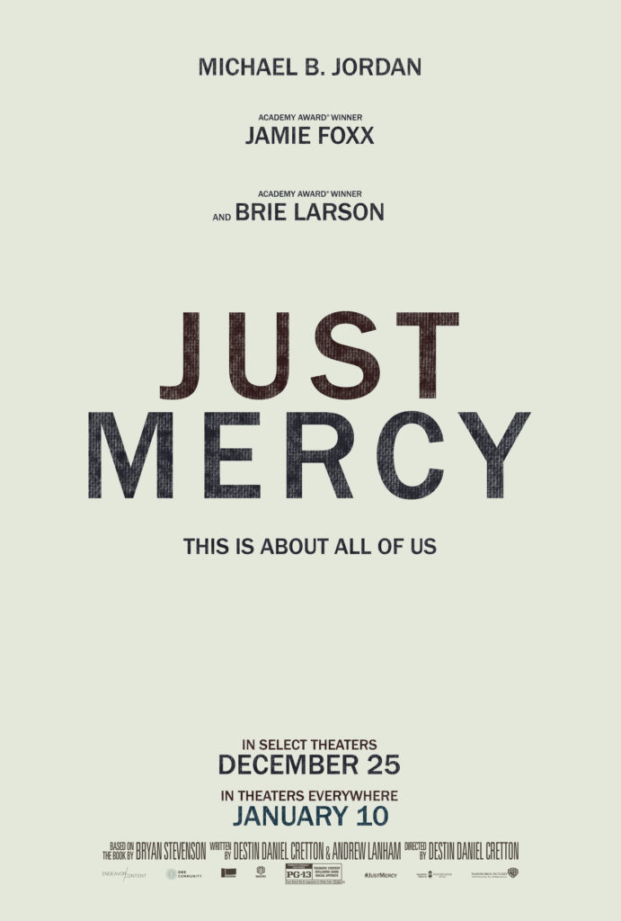 2nd Trailer For 'Just Mercy' Movie Starring Michael B. Jordan, Jamie Foxx, & Brie Larson