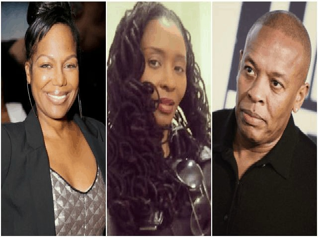 Michel'le, Dee Barnes, & Dr. Dre In August 2015 [Press Photo]