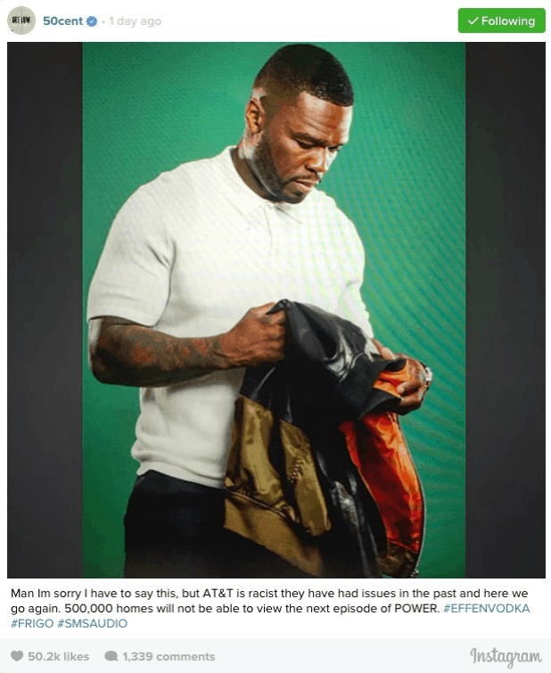 Editorial: 'I'm Sorry I Have To Say This, But AT&T Is Racist!!!'...Said 50 Cent